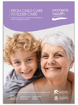Front Cover - 2018 Major Report - From childcare to elder care - findings from the Australian Longitudinal Study on Women's Health